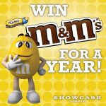 Showcase Cinema Year Supply of Peanut M&M's Giveaway (SELECT STATES)