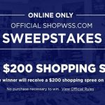 Shop WSS Shopping Spree Giveaway