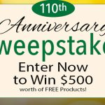 Botanic Choice Anniversary Sweepstakes