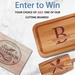 Personalized Cutting Board Giveaway