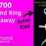 Diamond Candles $4700 Diamond Ring Giveaway