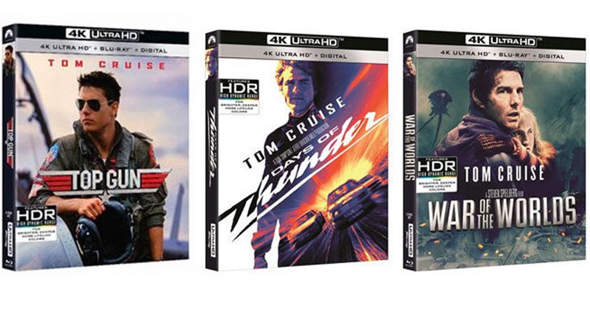 Tom Cruise 4K UHD Blu-rays Giveaway - Julie's Freebies
