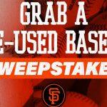 Grab a Game-Used Baseball Sweepstakes