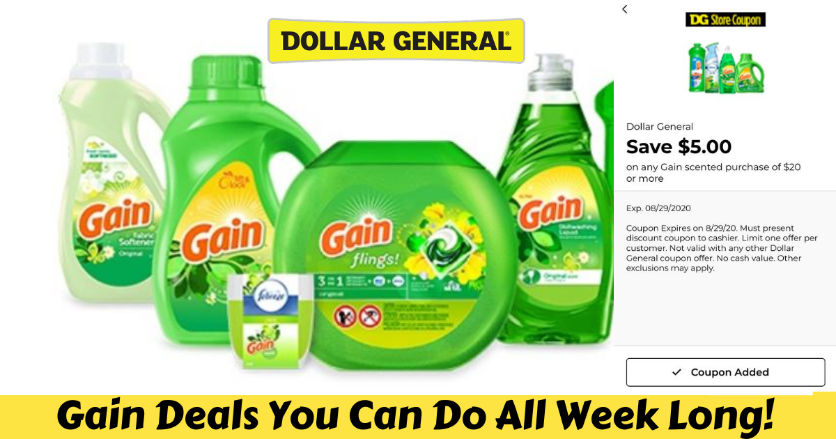 Gain Deals You Can Do All Week At Dollar General Julie S Freebies