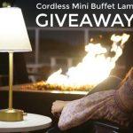 Mini Buffet Lamp Giveaway