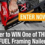 Milwaukee M18 FUEL Framing Nailer Kit Giveaway