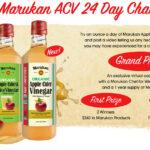 Marukan Apple Cider Vinegar 24 Day Challenge Video Contest