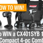Makita Sub-Compact 4-pc Combo Kit Giveaway