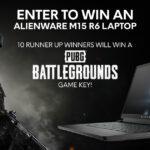 Alienware Arena Alienware m15 R6 Laptop & PUBG Battlegrounds October 2021 Sweepstakes