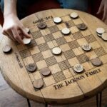 Holtz Leather - Whiskey Barrel Head Checkerboard Table Giveaway